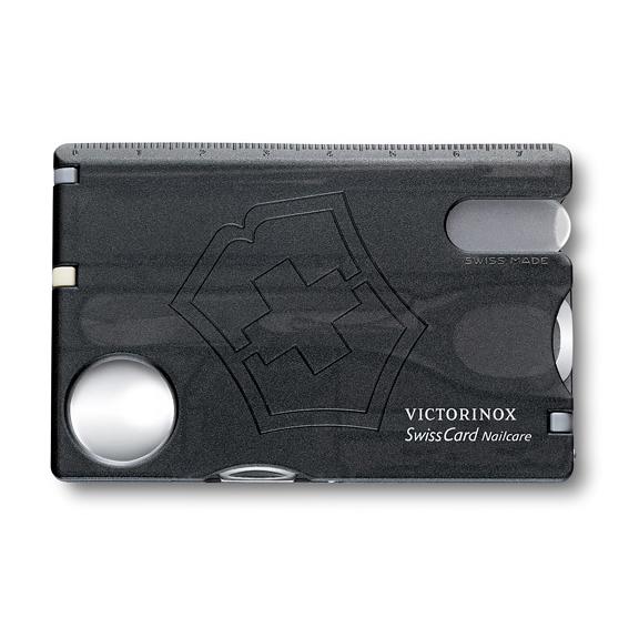 Швейцарская карточка Victorinox SwissCard Nailcare, черная*