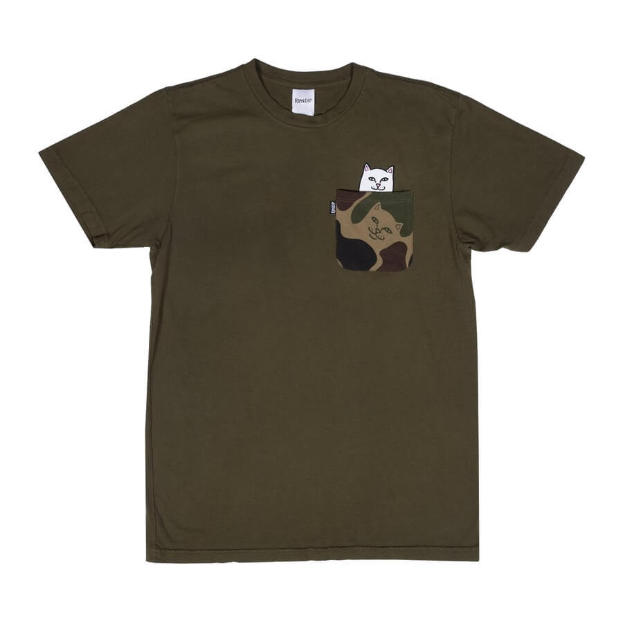 Футболка RIPNDIP Lord Nermal Camo Pocket (Army Camo)