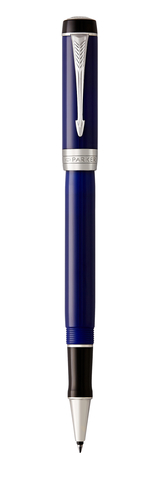 Ручка-роллер Parker Duofold Classic International, Blue and Black CT, FBlack