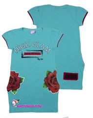 227 туника розы-карманы