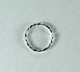 Кольцо витое разъемное, 10x1 мм, посеребренное, 5 шт.