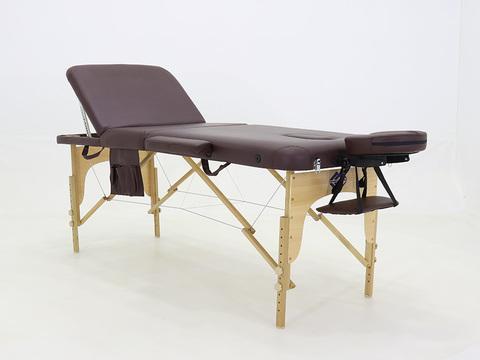 Складной массажный стол Med-Mos JF-AY01 (МСТ-103Л), бук, 3-секционный, с регулировкой высоты
