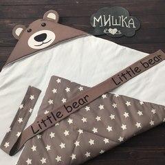 Демисезонный конверт одеяло Мишка звезда
