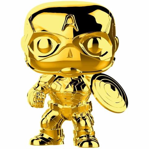 Фигурка Funko POP Gold Chrome - Captain America