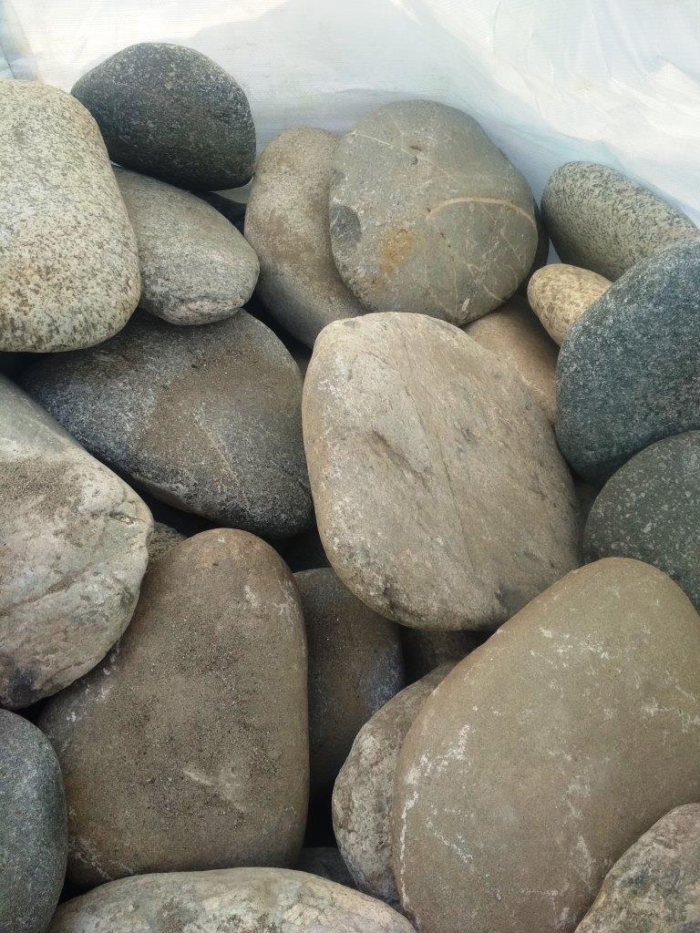 Булыжник отборный плоский Серый в БигБэге