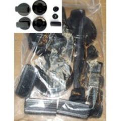 Ручки универсальные для плиты ЧЕРНЫЕ в комплекте с перех-одниками под разные валя переключателя