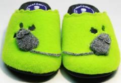 Уютные домашние тапочки женские Inblu NC- 1B Mouse Light Green