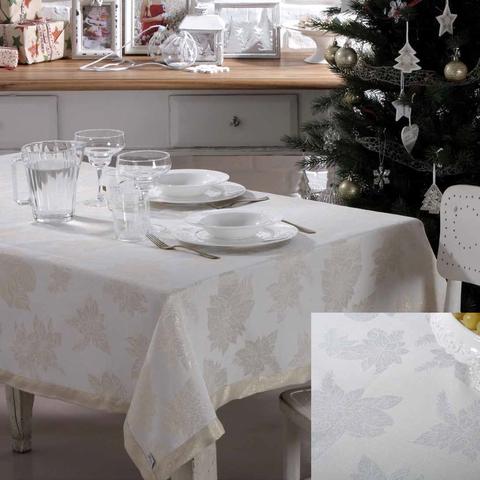 Скатерть 140x180 Vingi Ricami Luxury серебро