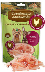 Деревенские лакомства для собак Хрящики куриной грудки 40г