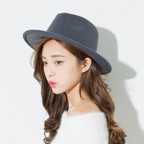 Шляпа фетровая серая - фото