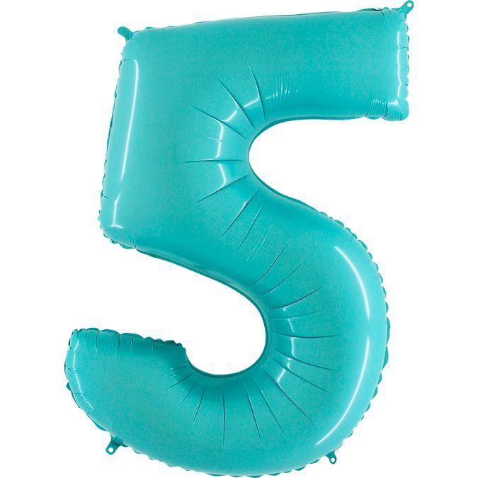 Фольгированные шарики в виде цифр Шар цифра 5 Голубая akvamarin-pastel-5.jpg