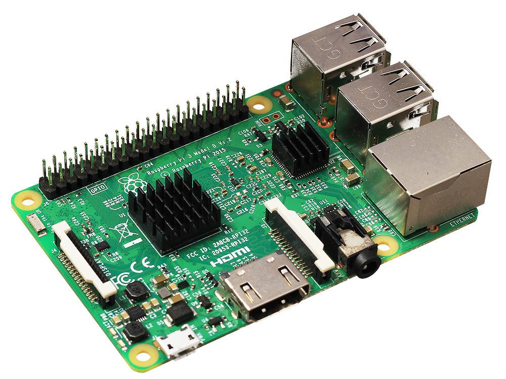 Радиаторы для Raspberry Pi на плате