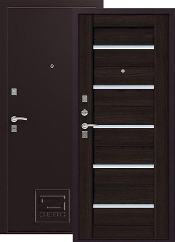 Дверь входная Зевс Z-3, 2 замка, 1,5 мм  металл, (шёлк бордо+венге)