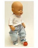 Брюки хлопковые - На кукле. Одежда для кукол, пупсов и мягких игрушек.