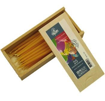 Свечи ко Дню Рождения в деревянной коробке (Dipam)