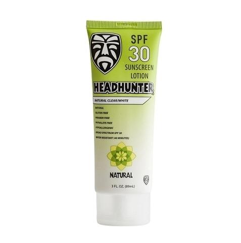 Лосьон для тела солнцезащитный влагостойкий бесцветный натуральный Headhunter Sunscreen Natural SPF 30 Clear Body Lotion 90 ml