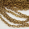 Цепь с насечками (цвет - античное золото) 4х3 мм, примерно 20 м
