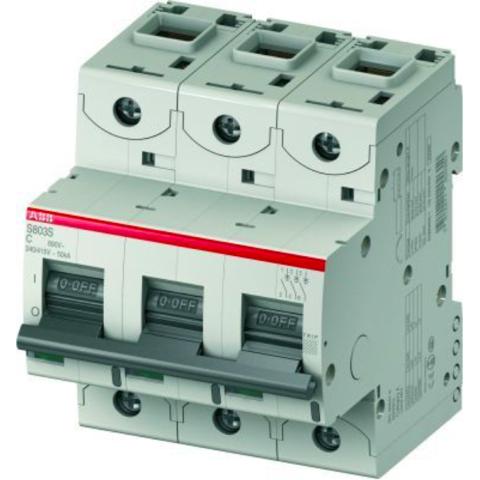 Автоматический выключатель 3-полюсный 10 А, тип C, 15 кА S803C C10. ABB. 2CCS883001R0104