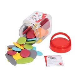 Радужные камешки, природные цвета, контейнер, Edx education, арт. 13229J