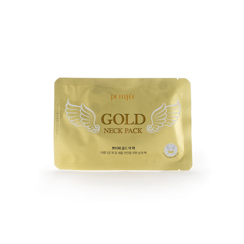 Koelf / Petitfee Патчи гидрогелевые для шеи Gold Neck Pack for firming & silky smooth neck 10г