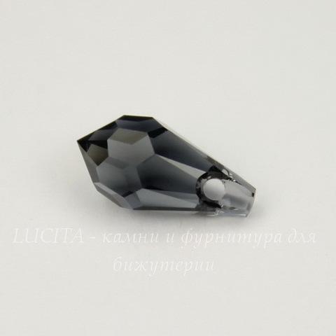 6000 Подвеска Сваровски Drop Graphite (11х5,5 мм)