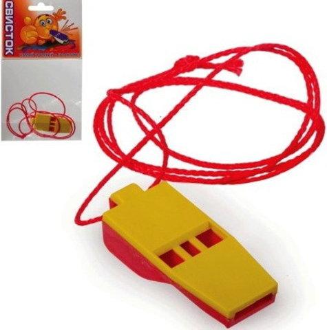 Свисток на веревке (в пакете)