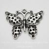 "Подвеска  ""Бабочка"" (цвет - античное серебро) 34х27 мм"