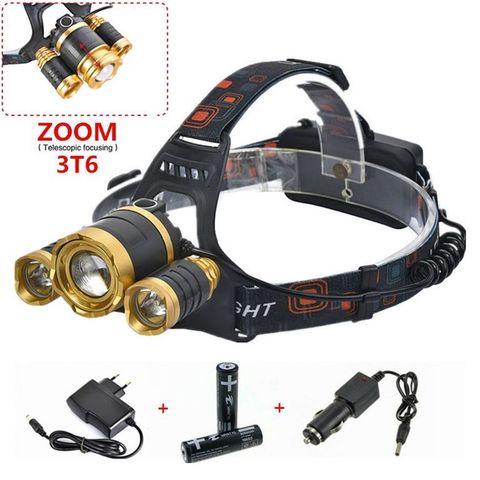 Налобный аккумуляторный фонарь с зумом Boruit HL-006