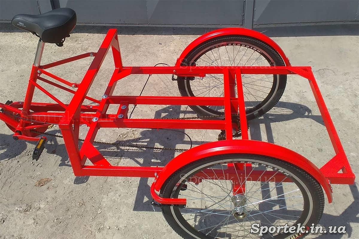 Грузовая платформа трехколесного велосипеда 'Рекламный' для уличной торговли и рекламы