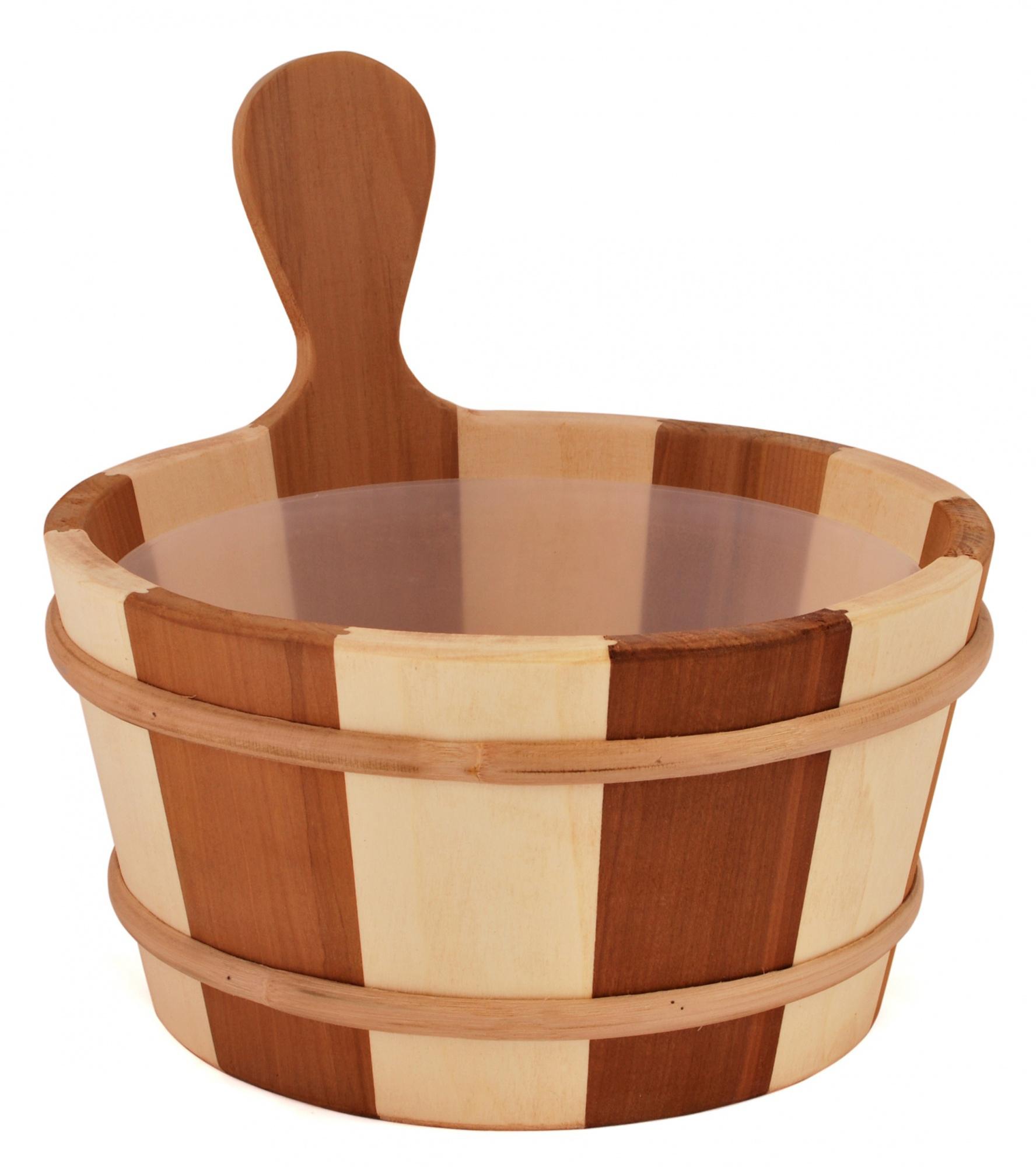 Ведра и кадушки: Кадушка деревянная SAWO 340-Z (4 литра с пластиковой вставкой) ведра и кадушки кадушка деревянная sawo 300 tp 9 литров с пластиковой вставкой