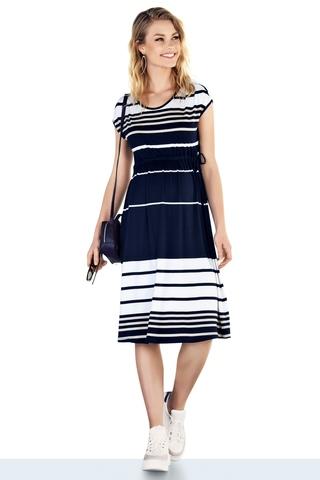 Платье для беременных 10227 синий