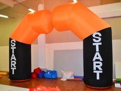 Надувная арка раздвижная Старт - Финиш или полуарка