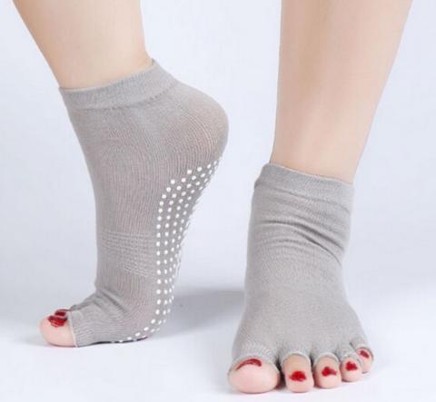 Нескользящие носки (35-39 р.) - Открытые пальцы, для йоги, батута, спорта
