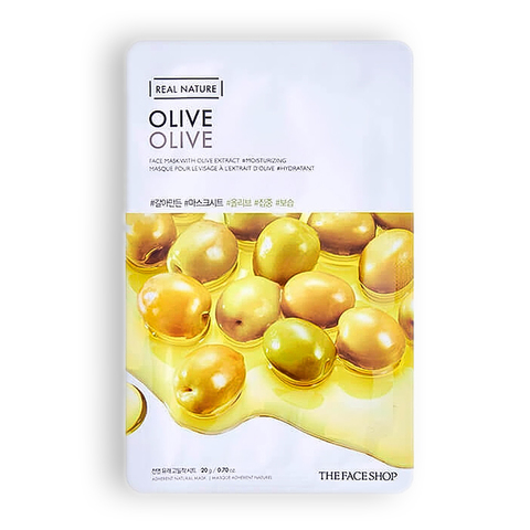 THE FACE SHOP Real Nature Olive Face Mask, 20 gr