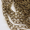 Цепь с насечками (цвет - античная бронза) 8х5,5 мм, примерно 10 м