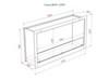 схема чертеж биокамин Lux Fire Кабинет 1210 М