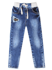 BJN005214 джинсы для мальчиков, медиум-дарк