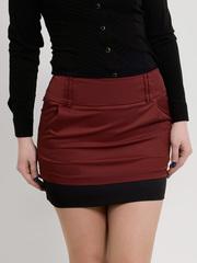 2045-1 юбка бордовая
