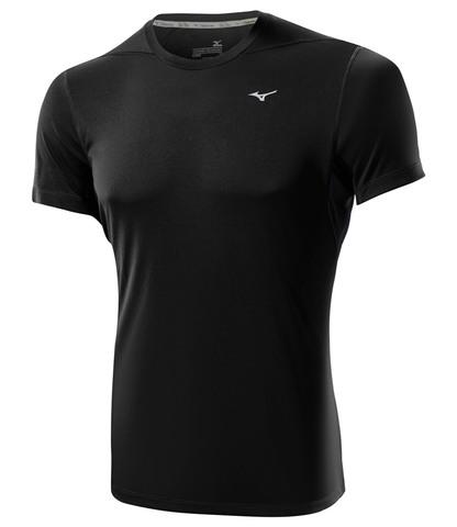 Беговая футболка Mizuno DryLite Core Tee мужская черная