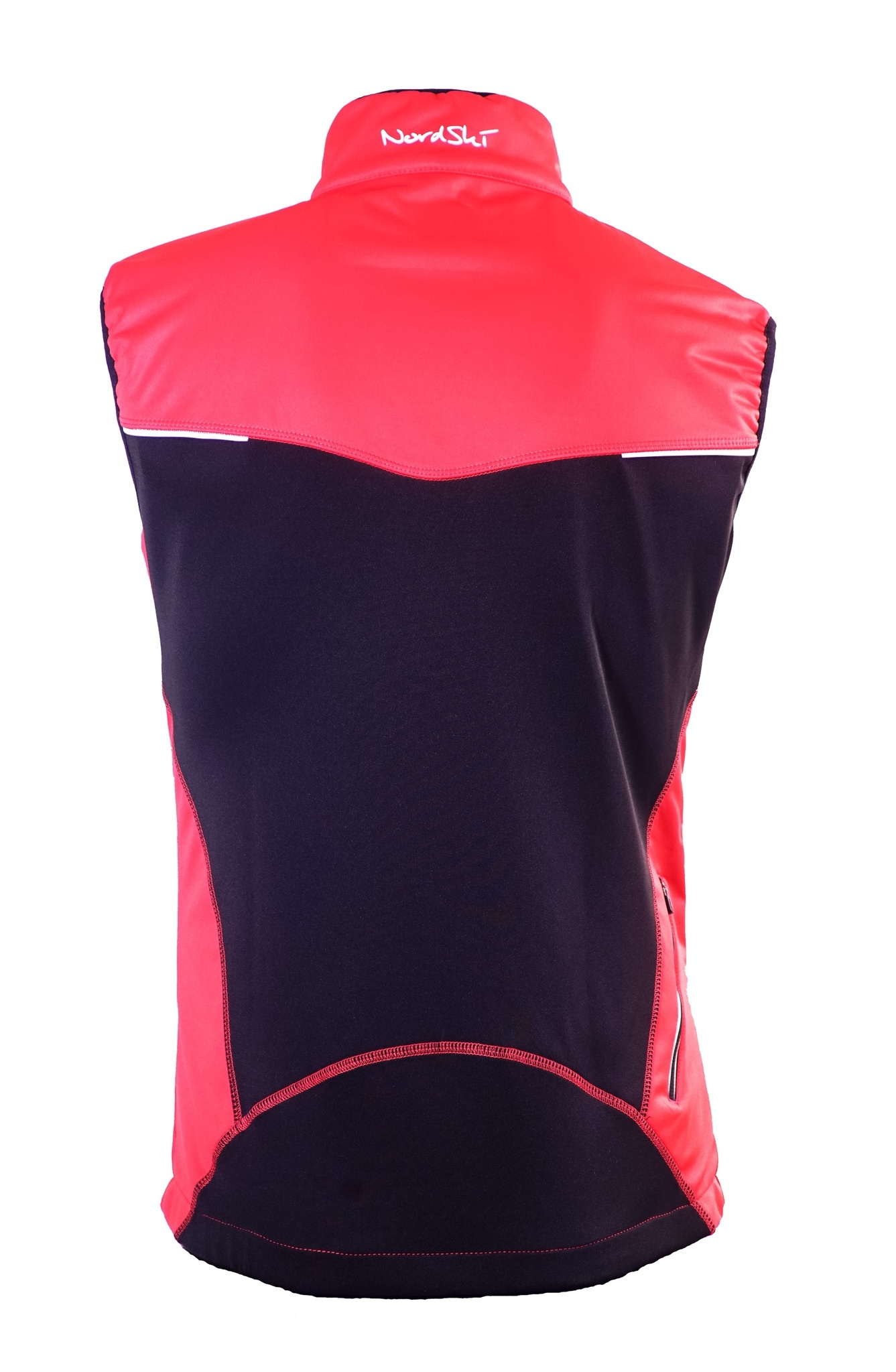 Мужской лыжный жилет Nordski Premium (NSM306900) красный фото спина