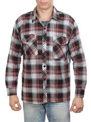 650-12 рубашка мужская, черно-красная