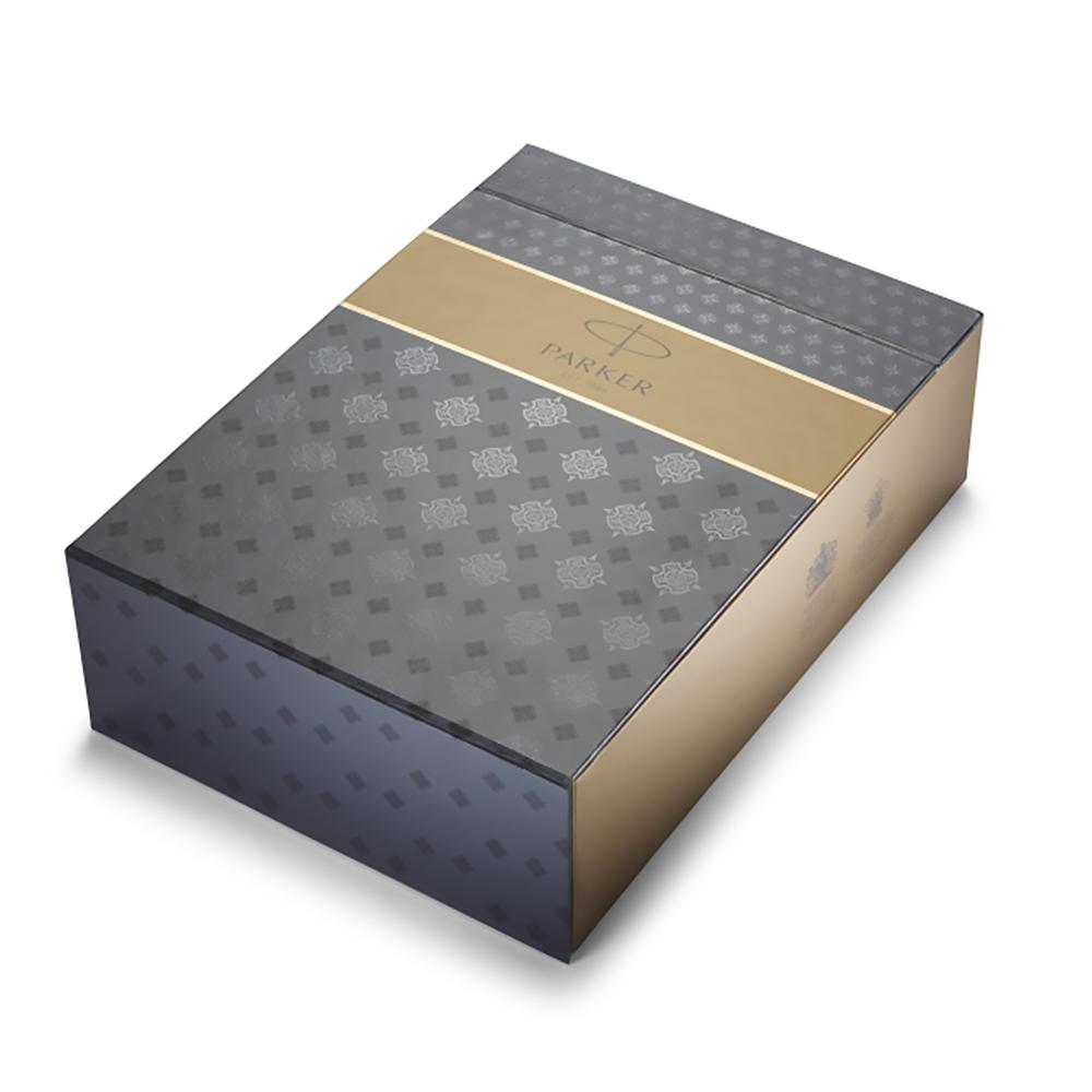 Набор подарочный Parker Sonnet - Essential Stainless Steel CT, шариковая ручка, M, BL + чехол