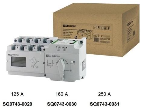 Устройство автоматического ввода резерва АВР-ПНД 4П 250А 380В с дисплеем TDM