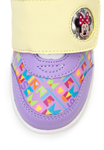 Кроссовки Минни Маус (Minnie Mouse) на липучке для девочек, цвет сиреневый. Изображение 7 из 8.