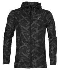 Мужская куртка ветровка для бега Asics Fuzex Packable 141640 1105 черная