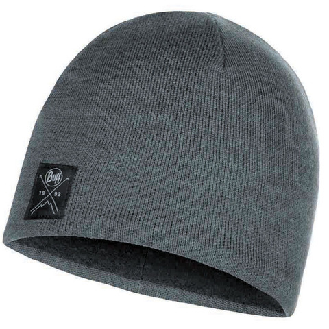 Шапка вязаная с флисом Buff Hat Knitted Polar Solid Grey