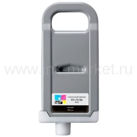Совместимый картридж PFI-701 Matte Black Pigment 700 мл для Canon imagePROGRAF 8100/9100