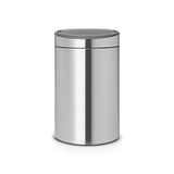 Двухсекционный мусорный бак Touch Bin New 10/23 л матовый, артикул 100680, производитель - Brabantia