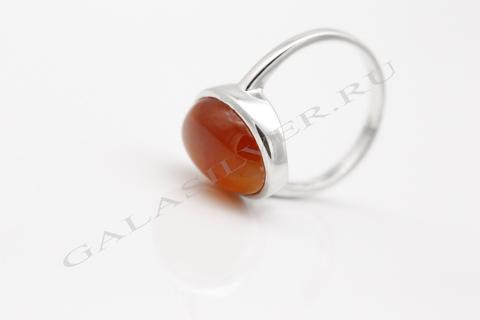 Кольцо с сердоликом из серебра 925