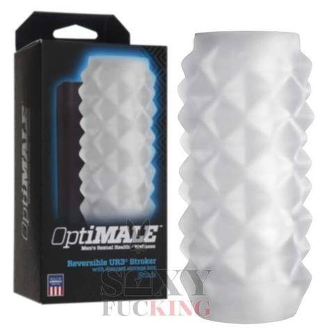 OptiMALE™ - Reversible ULTRASKYN™ Stroker - Studs - Frost